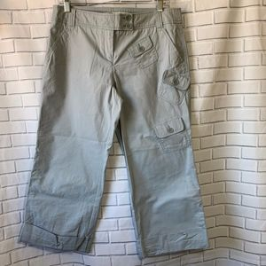 Anthropologie Sitwell NWOT Khaki Crop Pants Size 8